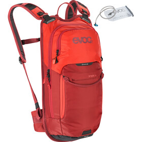 EVOC Stage Mochila Technical Performance 6l + Bolsa Hidratación 2l, orange/chili red